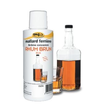 Arômes concentrés : Rhum Brun sans Alcool  - 125 ml