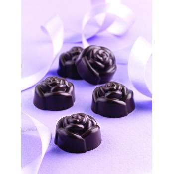 "Plaque silicone pour chocolat ""Easy Choc"": 15 roses (plaque de 214 x 106 mm)"