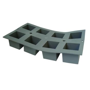 PLAQUE 8 CUBES 5 CM ELASTOMOULE, MOUSSE DE SILICONE  (plaque de 300 x 176 mm)
