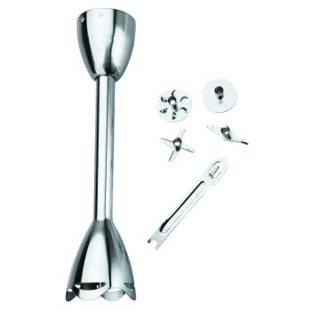 Accessoires pour Mini Mixer Inox : Pied de mixer extra long 27 cm + lames