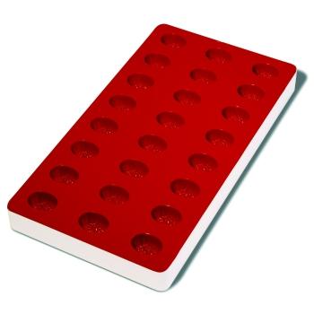 Plaque souple de 24 empreintes avec support rigide 180 x 335 mm : Ananas
