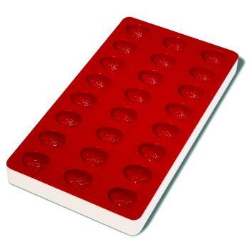 Plaque souple de 24 empreintes avec support rigide 180 x 335 mm : Fraise