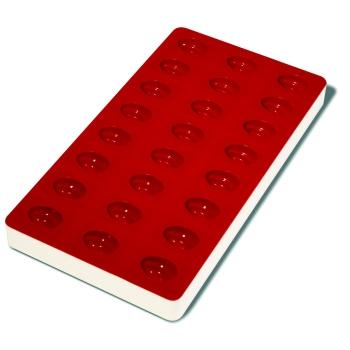 Plaque souple de 24 empreintes avec support rigide 180 x 335 mm : Pèche