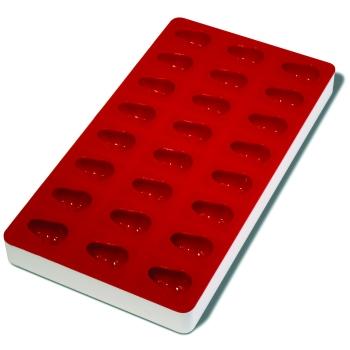 Plaque souple de 24 empreintes avec support rigide 180 x 335 mm : Poire