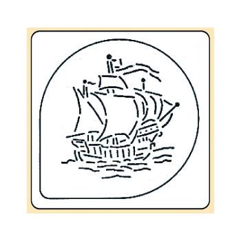 Pochoir plastique bateau de pirate