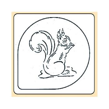 Pochoir plastique écureuil