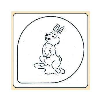 Pochoir plastique lapin