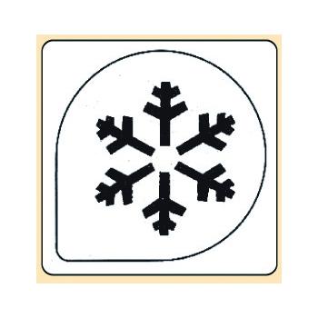 Pochoir plastique flocon de neige