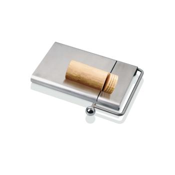 Coupe foie gras, chèvre... inox à fil avec plateau