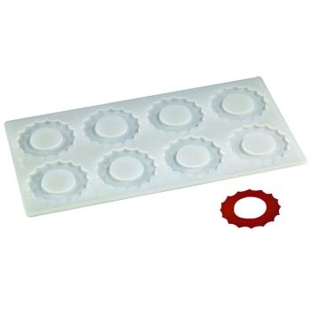 Plaque silicone 8 empreintes soleil pour Décors Chocolat et Sucre