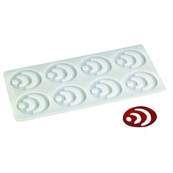 Plaque silicone 8 empreintes pour Décors Chocolat et Sucre
