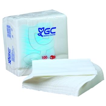 Serviette papier blanche 100% fibres recyclées - ECOLABEL