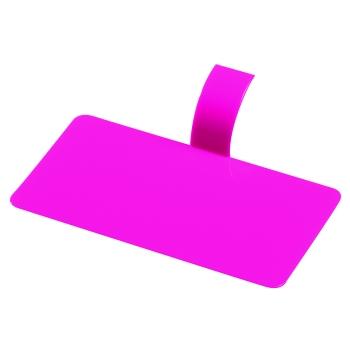 Languette plastique rectangle -10 X 5.5 cm - 100 unités