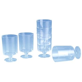 Verre  à pied plastique cristal - 24 unités