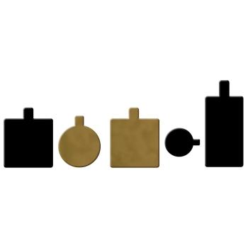 Languette Or - Carton double face Or/Noir - 200 unités