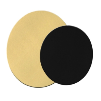 Rond uni Or fort 1050g - double face Or/Noir