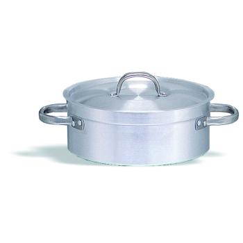 Plat à sauter aluminium à anses Rondeau avec couvercle