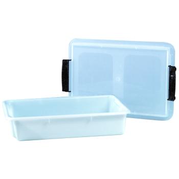 Bac rectangulaire plastique empilable avec couvercle transparent - plusieurs dimensions