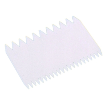 Peigne décor plastique rectangle - 11 x 7.5 cm
