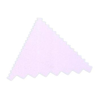 Peigne décor plastique triangle - 9.3 x 8.3 cm