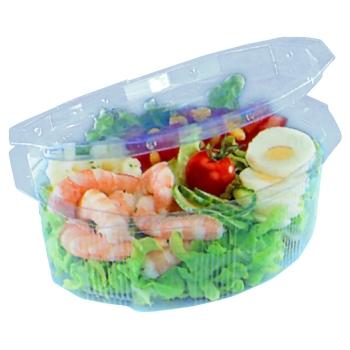 Bol à salade Cristal APET pour utilisation froide - sachet de 50 ou 100 unités