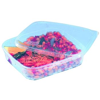 Boites avec couvercle spécial micro-ondes -POLYPRO -20°C +130°C - sachet de 50 unités
