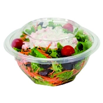 Bol salade rond cristal PET pour utilisation froide - sachet de 50 unités