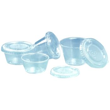 """Pot cristal """"Solo clip"""" fermeture par couvercle plat - pots seuls - 250 unités"""