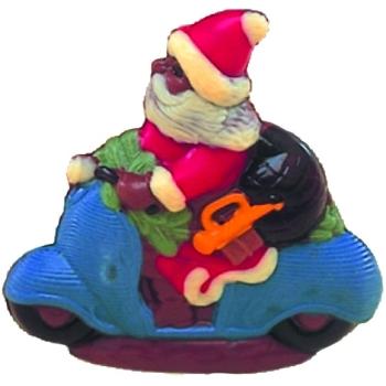 Moule polycarbonate pour chocolat 9 - Père Noël en scooter