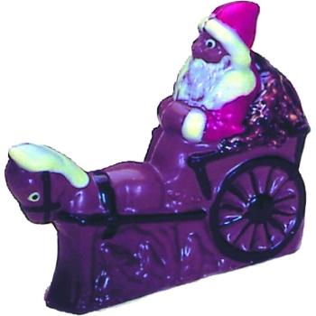 Moule polycarbonate pour chocolat 11 - Père Noël traineaux