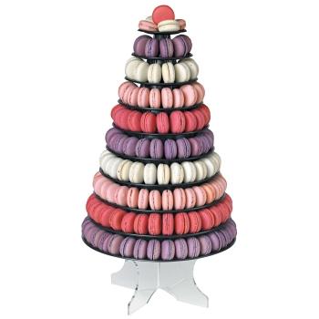Pyramide à  macarons couleur version noire