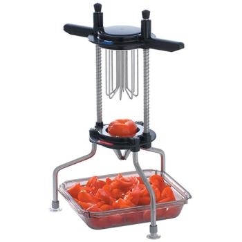 Coupe tomates et agrumes en 8 quartiers inox