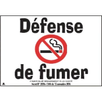 """Pancarte """"Défense de fumer"""""""