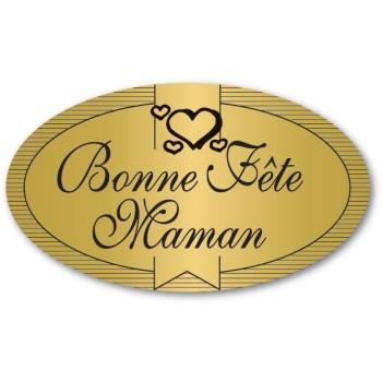 Etiquettes adhésives Bonne Fête Maman - Boite distributrice de 500 étiquettes adhésives