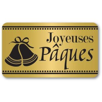 Etiquettes adhésives Joyeuses Pâques 2 - Boite distributrice de 500 étiquettes adhésives