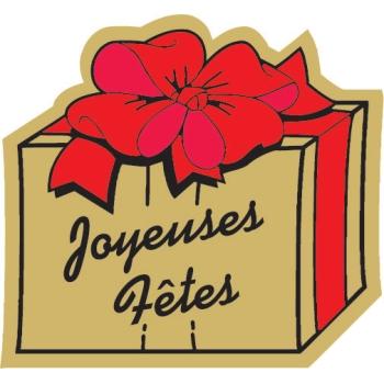 Etiquettes adhésives Joyeuses Fêtes 3 - Boite distributrice de 500 étiquettes adhésives