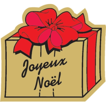 Etiquettes adhésives Joyeux Noel 3 - Boite distributrice de 500 étiquettes adhésives