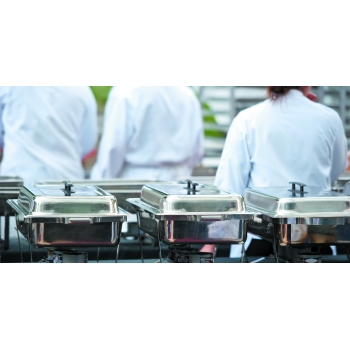 "Chafing dish ""Eco"" avec couvercle inox"