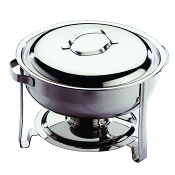 "Chafing dish rond ""Eco"" avec couvercle inox"