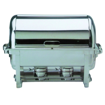 Chafing dish avec couvercle roll top inox
