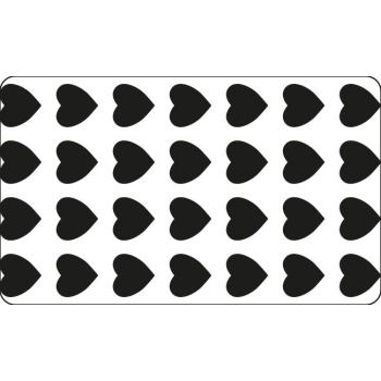 Grille plastique pochoir à Biscuit motif coeur- 60*40cm