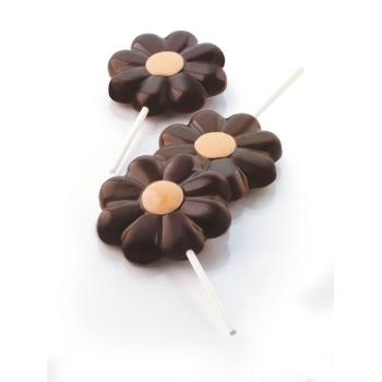 Moules sucettes en silicone fleur