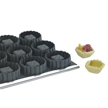 Moules 15 tartelettes carrées cannelées