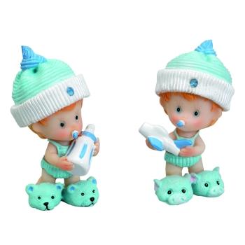 Bébé bonnet bleu