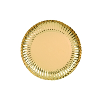 Assiettes carton métallisé
