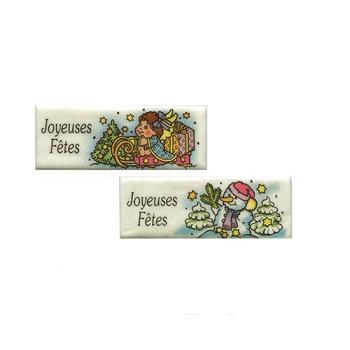 """Rectangle """"Joyeuses Fêtes"""" Persipan-"""