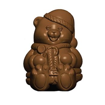 Moule polycarbonate pour chocolat 29 - Ourson de Noël