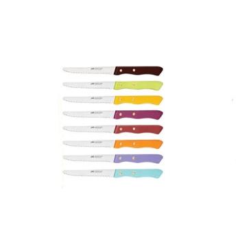 Couteau de table couleur cranté 10.5 cm