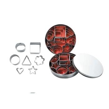 Boîte de 24 mini découpoirs en fer blanc