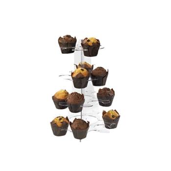 Présentoir spécial muffins et cupcakes plexi